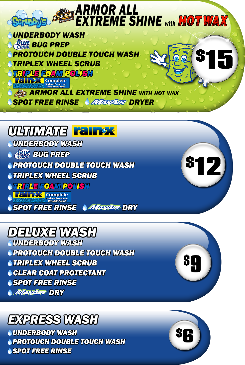 Pricing Florence Scrubby S Car Wash